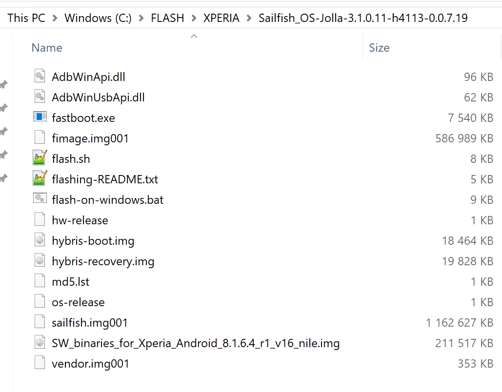 Reverting Xperia to Android OS and reinstalling Sailfish OS